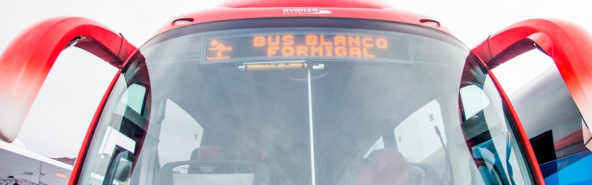 bus blanco Avanza