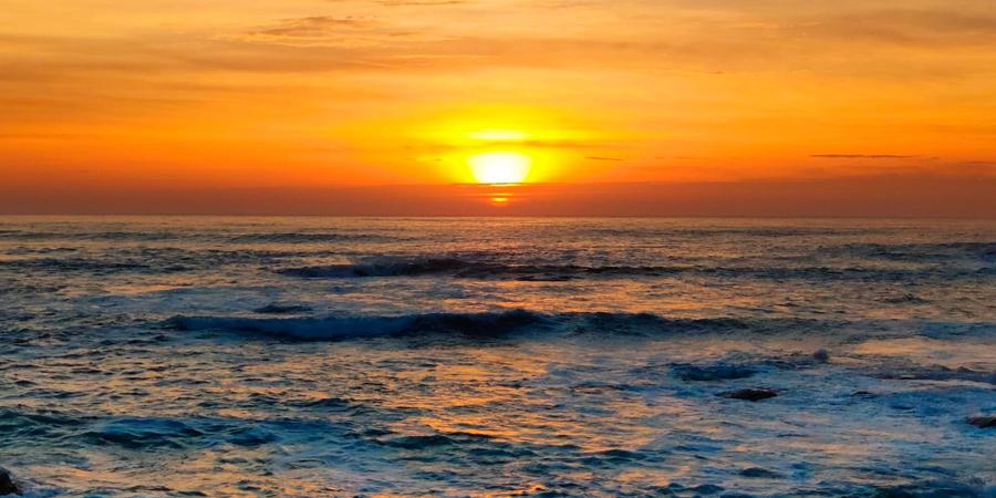 Puesta sol Océano Atlántico